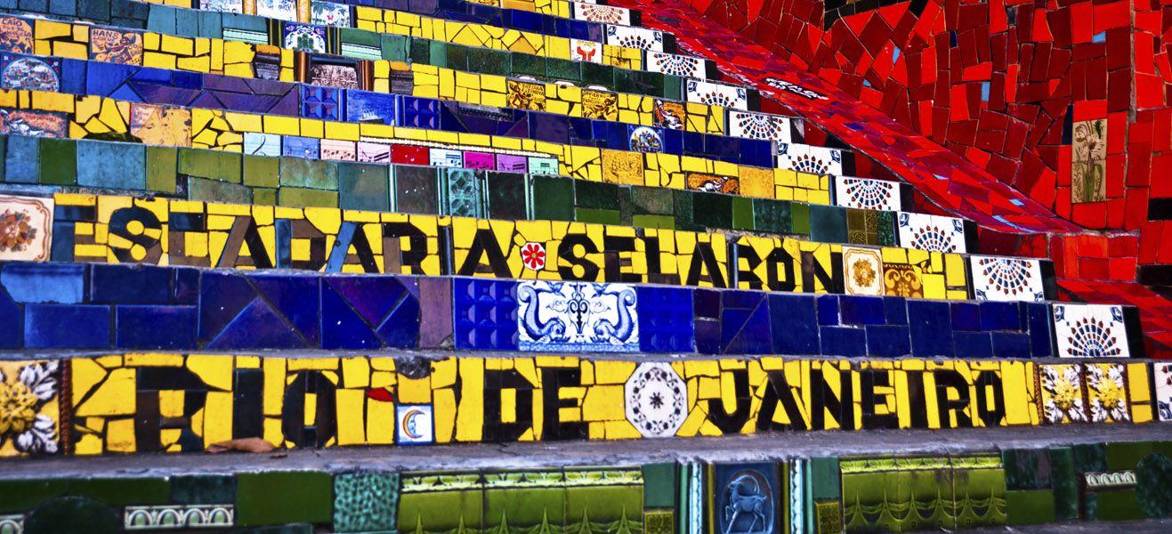 image of escadaria selaron in rio de janeiro